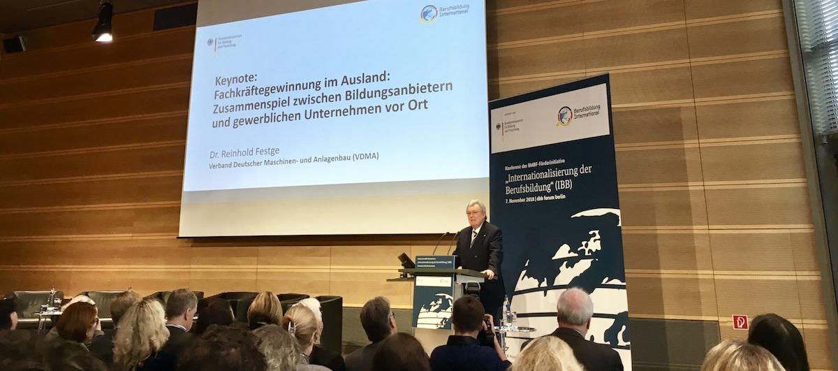 Reinhold Festge - Konferenz zur Internationalisierung der Berufsbildung