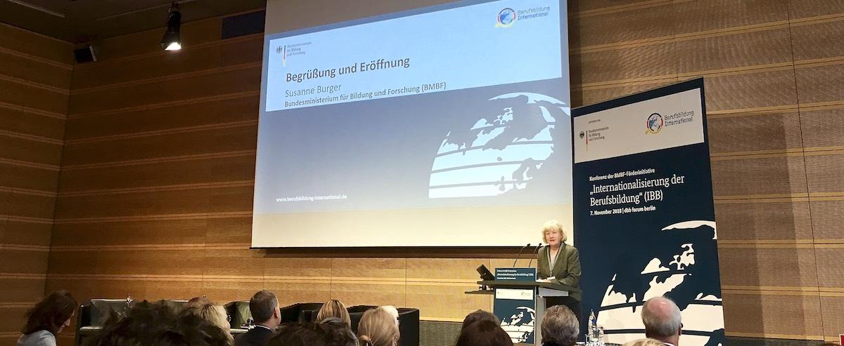 Susanne Burger - Konferenz zur Internationalisierung der Berufsbildung